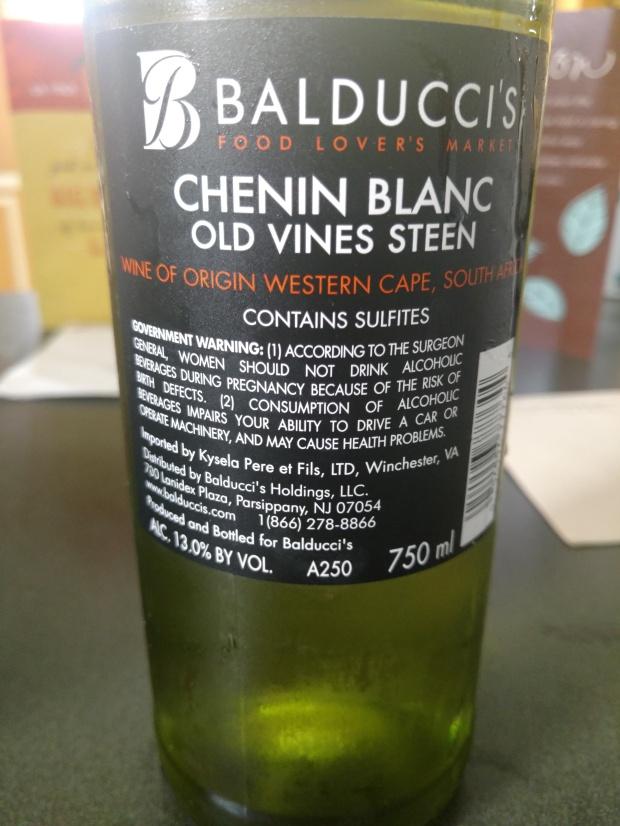 BalduccisCheninBlancNotes